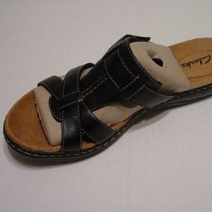 f0f85bbda983 Clarks Leisa Bora women s 7M black leather sandal